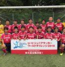 U-12 ジュニアサッカーワールドチャレンジ2018   街クラブ予選優勝!!本大会出場決定!!